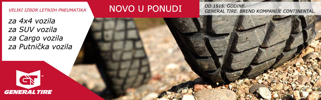 Novo u ponudi u Kompaniji KIT Commerce!  GENERAL TIRE!